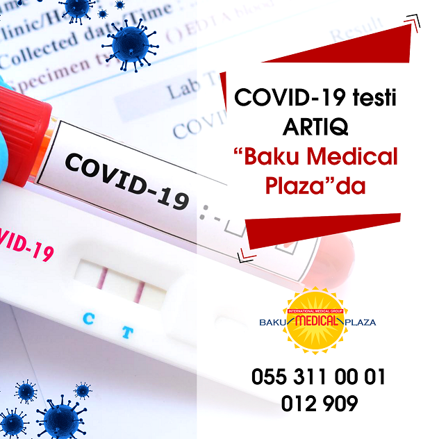 """COVID-19 testi artıq """"Baku Medical Plaza""""da"""